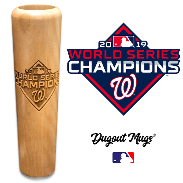 Washington Nationals World Series Championship Bat Mug - Dugout Mugs® -