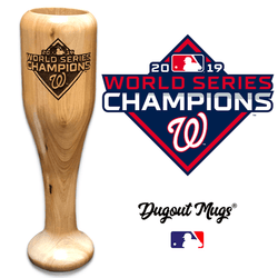Washington Nationals World Series Champions Wined Up® | Bat Wine Mug - No engraving
