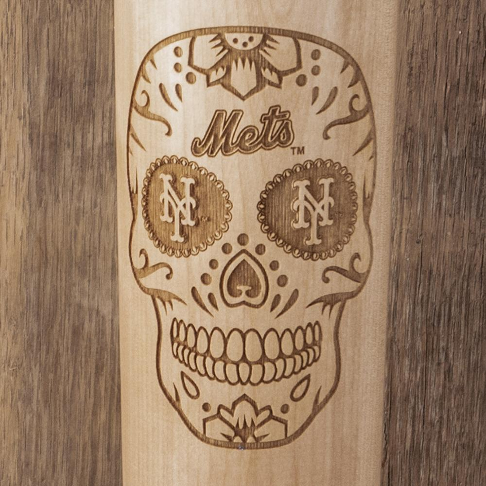 New York Mets Sugar Skull Baseball Bat Mug Details