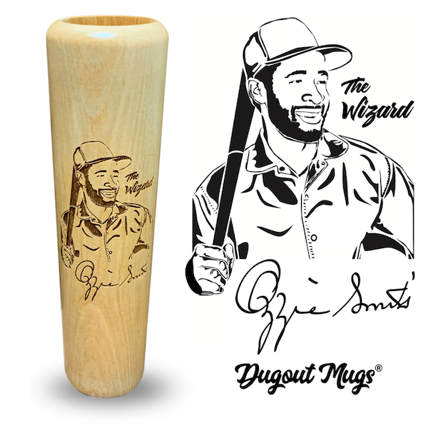 Ozzie Smith Baseball Bat Mug | Autograph Giveaway | Dugout Mugs®