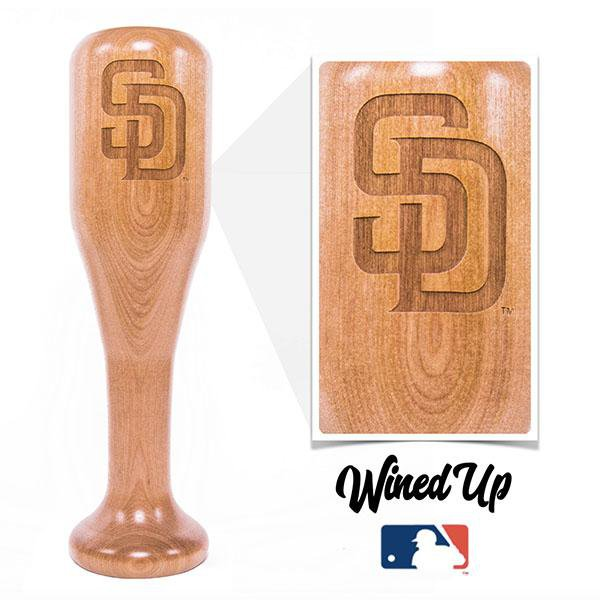 baseball bat wine glass San Diego Padres SD