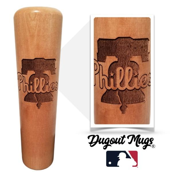 Phillies Dugout Mug® - Baseball Bat Mug
