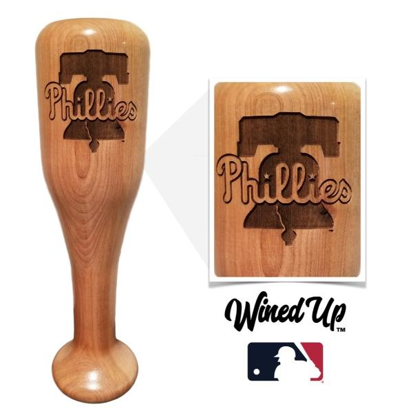 baseball bat wine glass Philadelphia Phillies