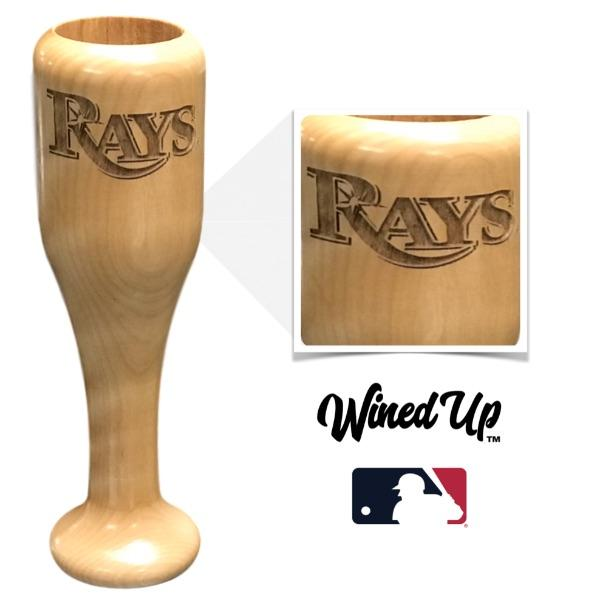 baseball bat wine glass Tampa Bay Rays