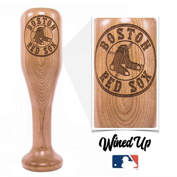 baseball bat wine glass Boston Red Sox