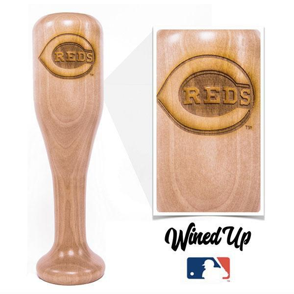 baseball bat wine glass Cincinnati Reds