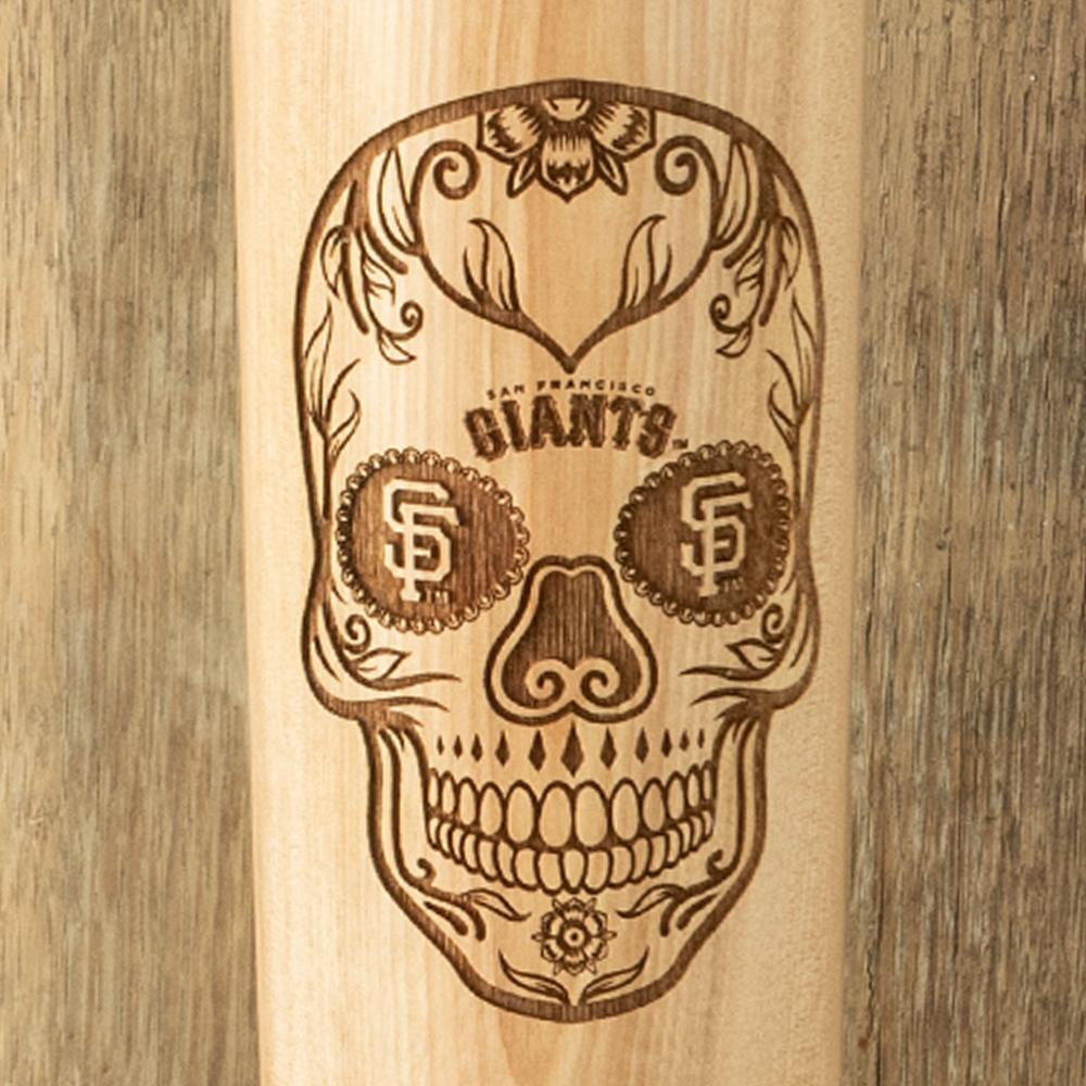 San Francisco Sugar Skull Baseball Bat Mug Details