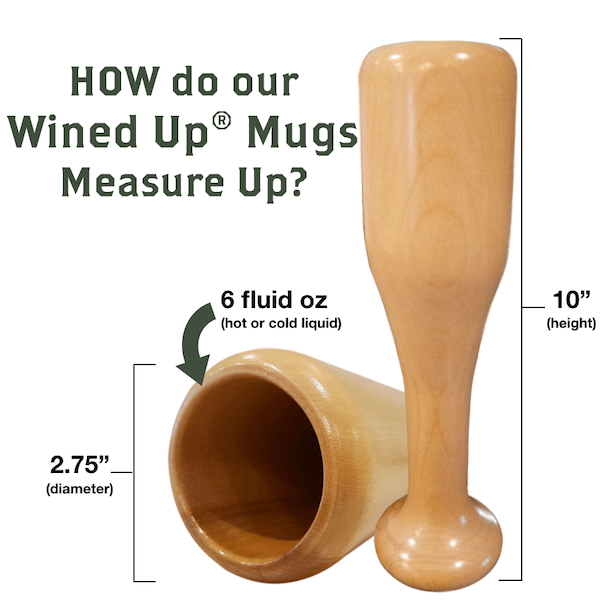 baseball bat wine glass measure up