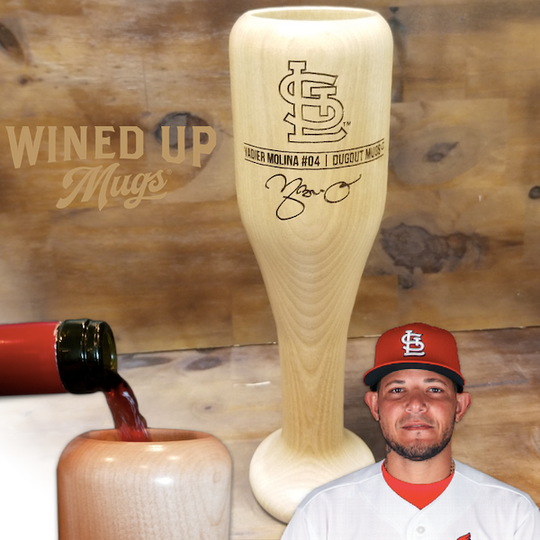 Yadier Molina Baseball Bat Wine Glass | St. Louis Cardinals | Signature Series Wined Up®