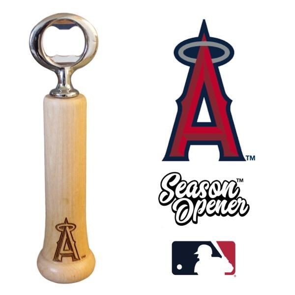 Los Angeles Anaheim Angels bat handle bottle opener