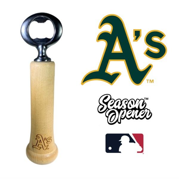 Oakland Athletics Bat Handle Bottle Opener Baseball Gift
