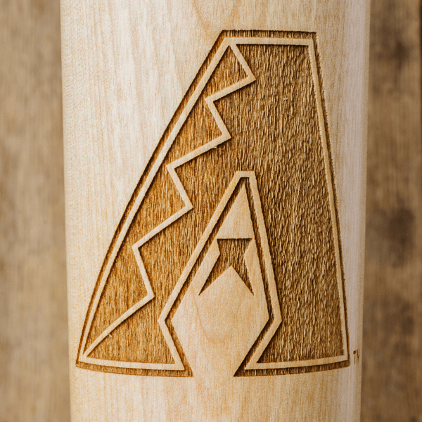 baseball bat mug Arizona Diamondbacks close up