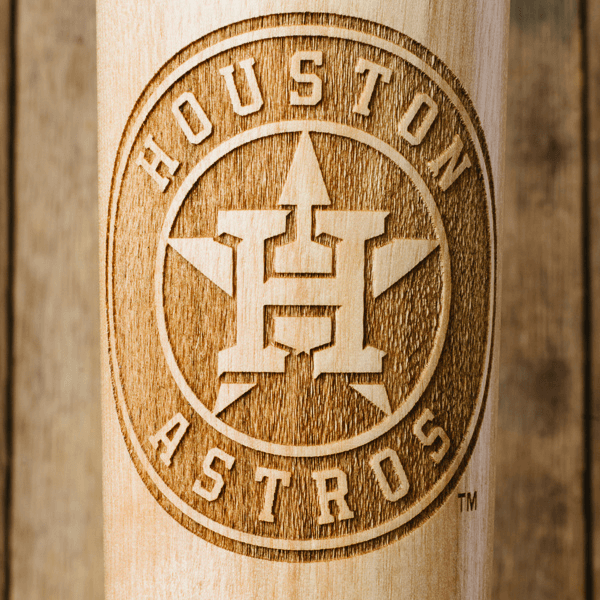 baseball bat mug Houston Astros close up