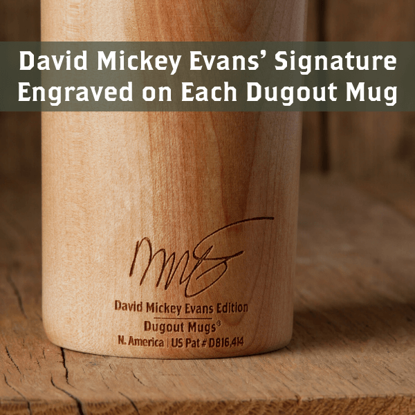 Baseball bat mug Sandlot David Mickey's Mini Signature