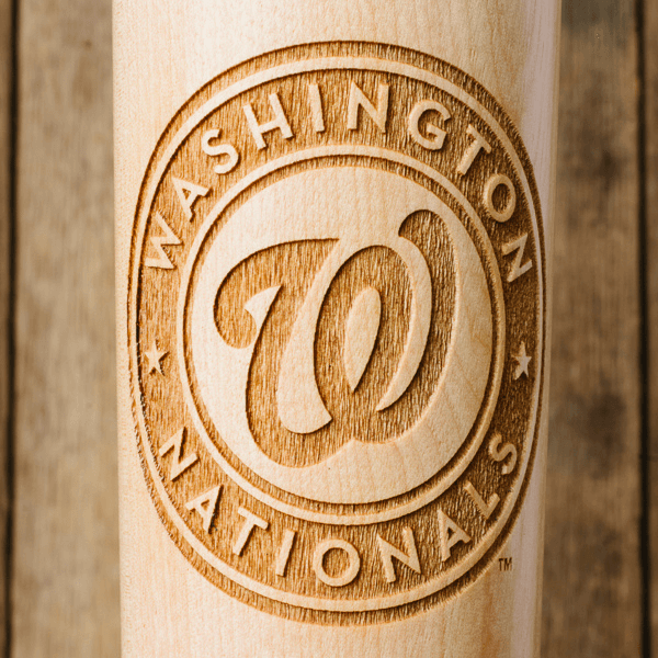 baseball bat mug Washington Nationals close up