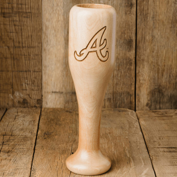 baseball bat wine glass Atlanta Braves