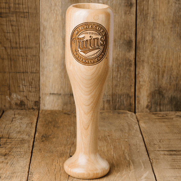 baseball bat wine glass Minnesota Twins