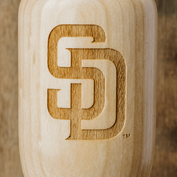 baseball bat wine glass San Diego Padres SD close up
