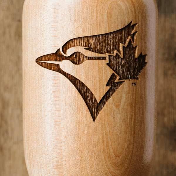 baseball bat wine glass Toronto Blue Jays Bird close up
