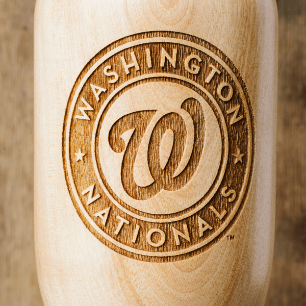 baseball bat wine glass Washington Nationals close up