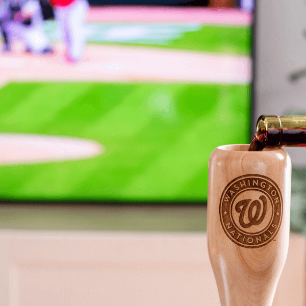 baseball bat wine glass Washington Nationals game day pour