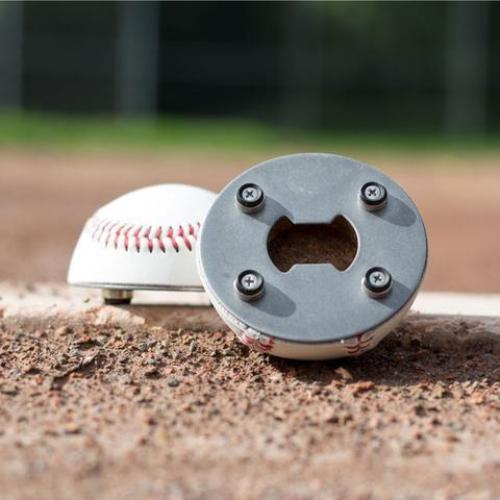 "The ""Cutter"" Signature Series - Half Baseball Bottle Opener -"