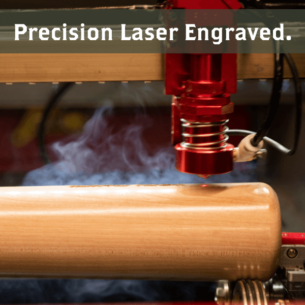 )baseball bat mug precision laser engraved