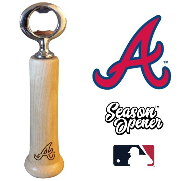 Atlanta Braves Bat Handle Bottle Opener Baseball Gift