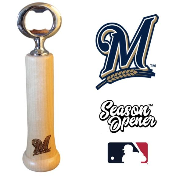 Milwaukee Brewers Bat Handle Bottle Opener Baseball Gift