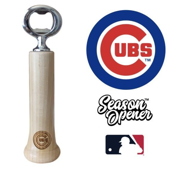 Chicago Cubs Bat Handle Bottle Opener Baseball Gift