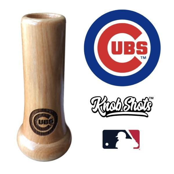 bat knob shot glass Chicago Cubs