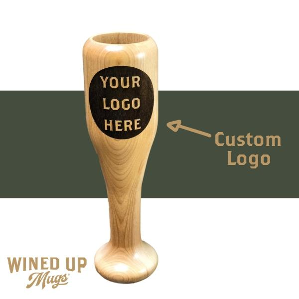 Custom Logo Wined Up® Mug | Mini Bat Wine Glass