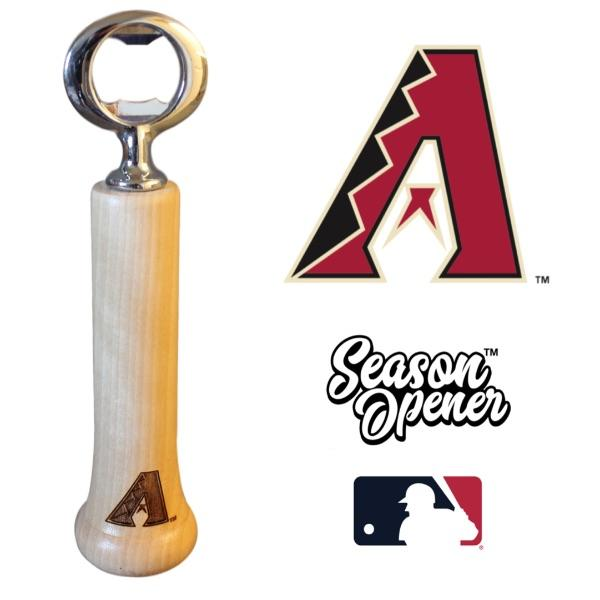 Arizona Diamondbacks Bat Handle Bottle Opener Baseball Gift