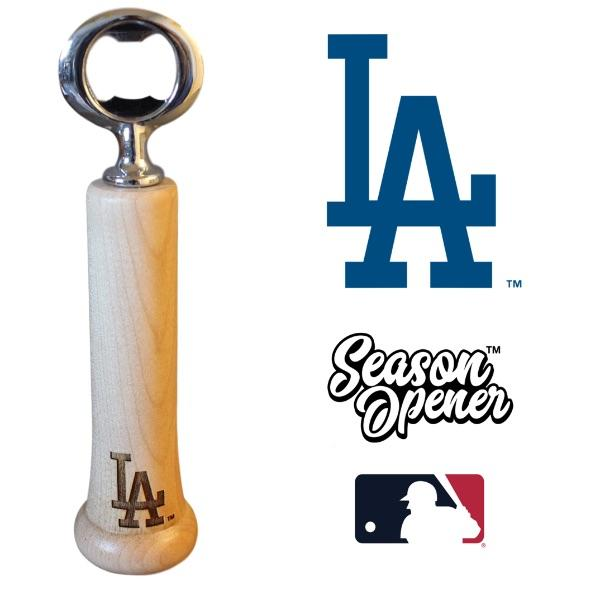Los Angeles Dodgers bat handle bottle opener