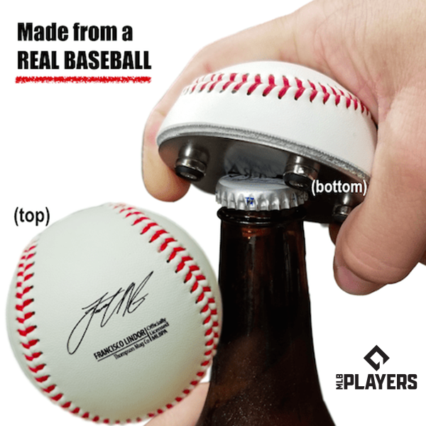 "The ""Cutter"" Signature Series - Half Baseball Bottle Opener - Francisco Lindor Signature Series The ""Cutter"""