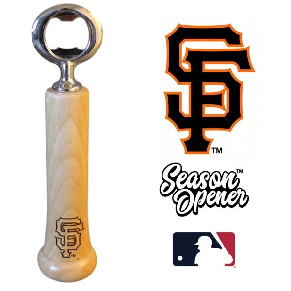 San Francisco Giants Bat Handle Bottle Opener Baseball Gift