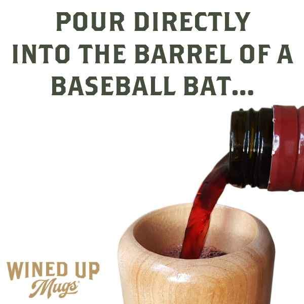 baseball bat wine glass gift for baseball mom