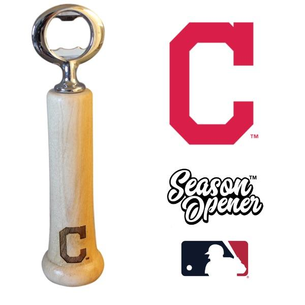 Cleveland Indians Bat Handle Bottle Opener Baseball Gift