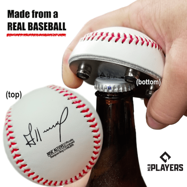 "The ""Cutter"" Signature Series - Half Baseball Bottle Opener - Jose Altuve Signature Series The ""Cutter"""