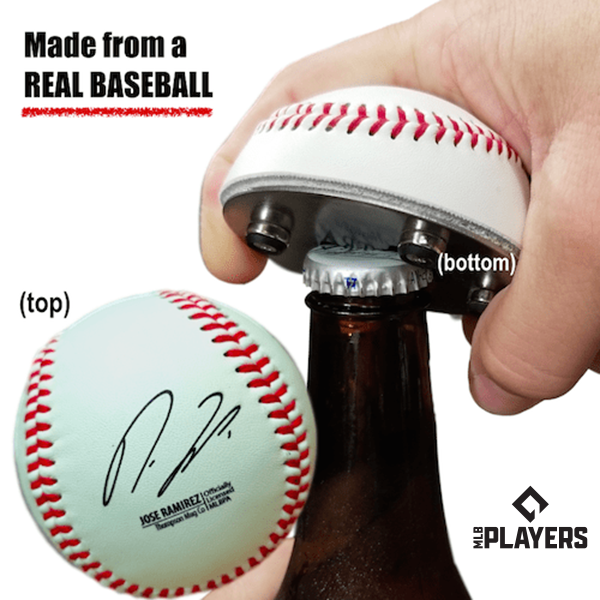 "The ""Cutter"" Signature Series - Half Baseball Bottle Opener - Jose Ramirez Signature Series The ""Cutter"""