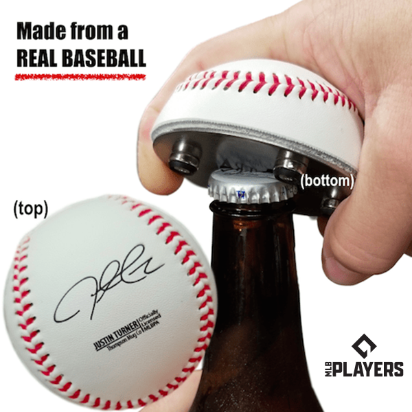 "The ""Cutter"" Signature Series - Half Baseball Bottle Opener - Justin Turner Signature Series The ""Cutter"""