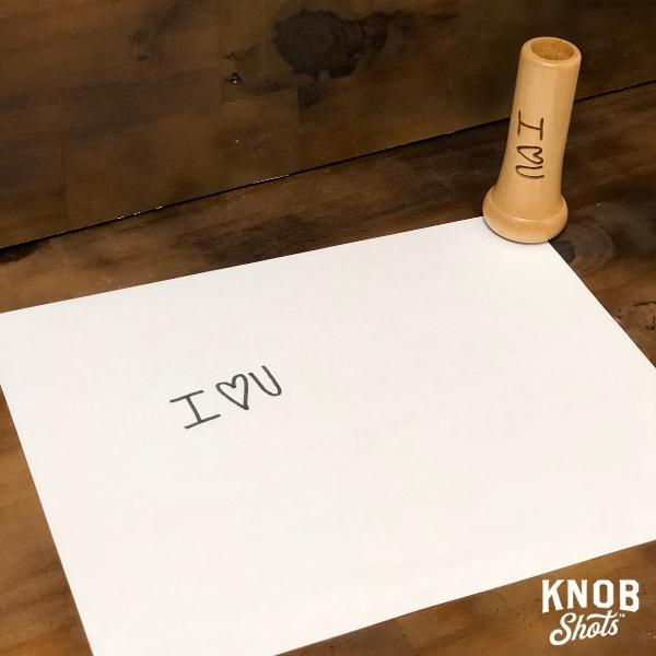 handwrite a message shot glass