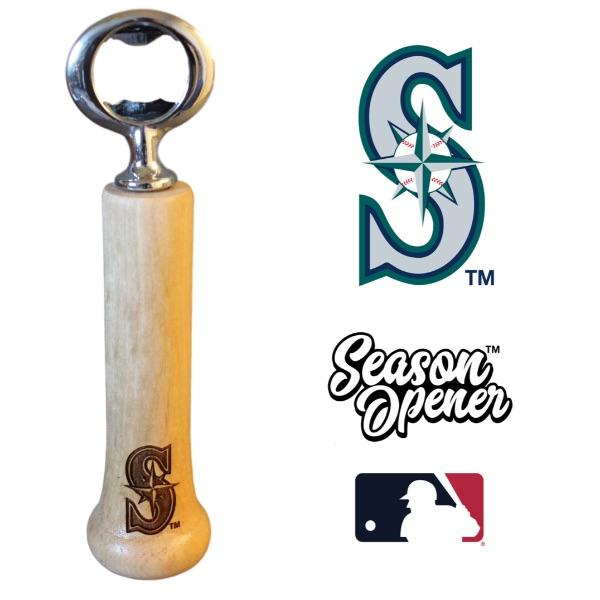 Seattle Mariners Bat Handle Bottle Opener Baseball Gift