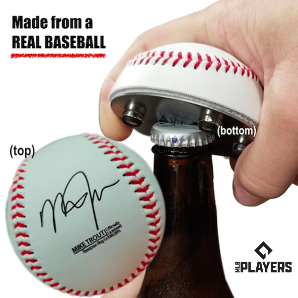 "The ""Cutter"" Signature Series - Half Baseball Bottle Opener - Mike Trout Signature Series The ""Cutter"""