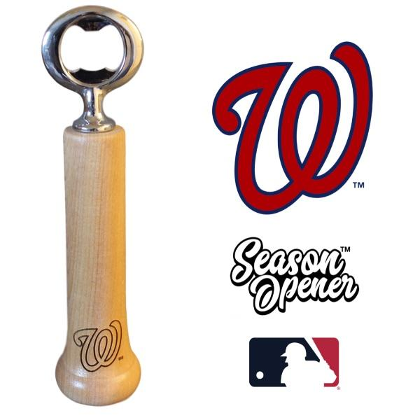 Washington Nationals W bat handle bottle opener