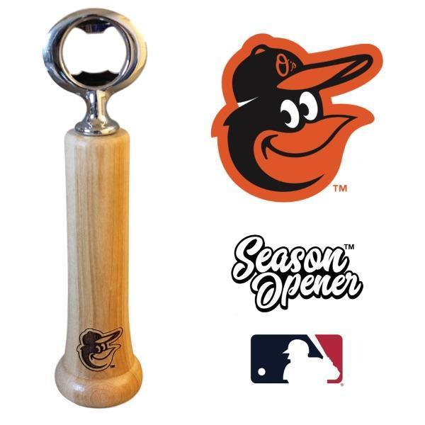 baltimore orioles bat handle bottle opener