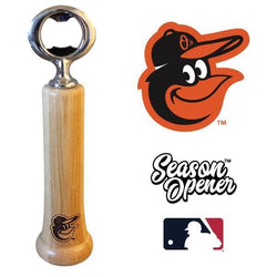 Baltimore Orioles Bat Handle Bottle Opener Baseball Gift