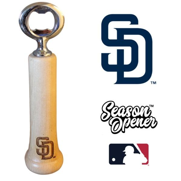 San Diego Padres SD bat handle bottle opener
