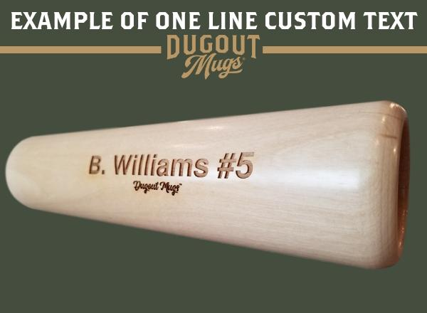 personalize bat mug baseball gift