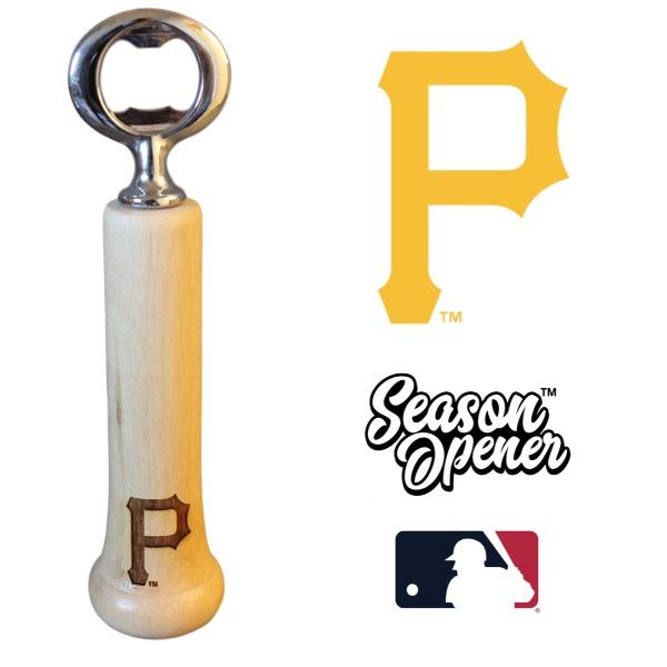 Pittsburgh Pirates P bat handle bottle opener